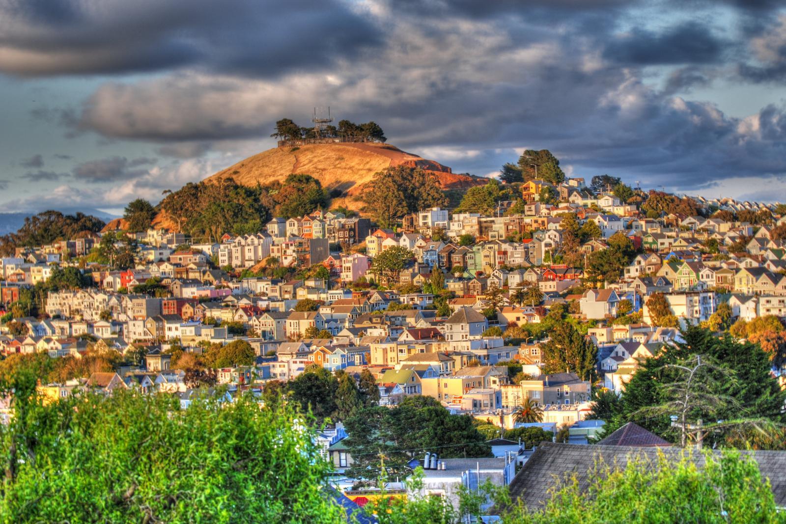 Bernal Hill after the rain